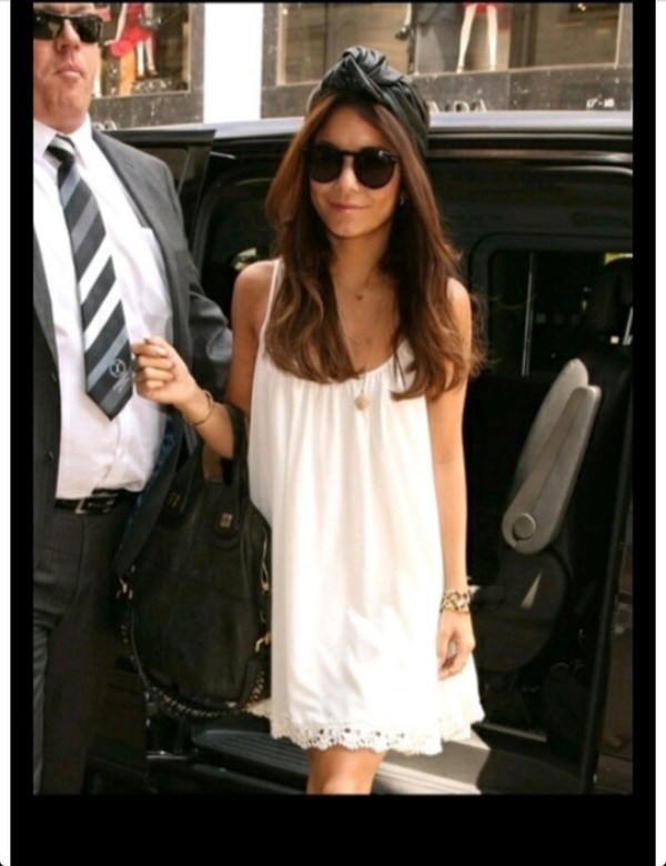 dress white lace bottom