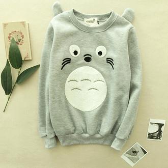 sweater anime totoro warm cool