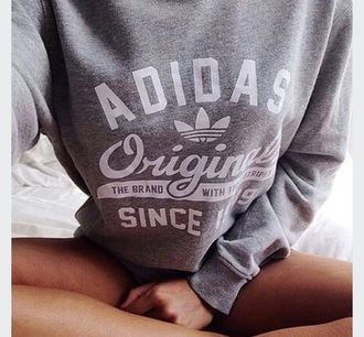 sweater adidas adidasoriginals grey