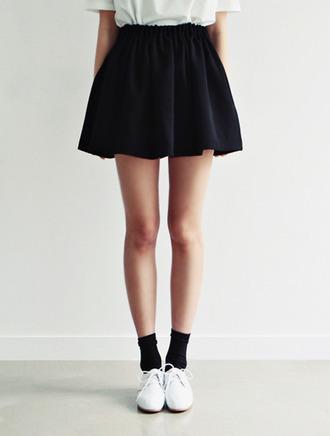 shoes skirt socks black navy skater skirt cute