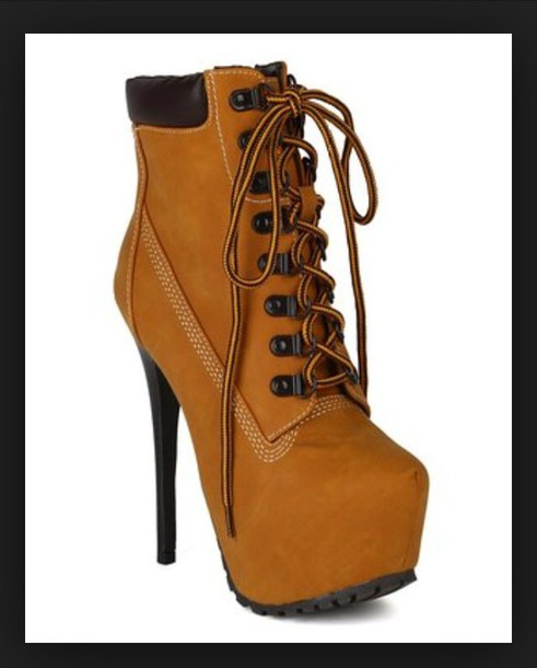 shoes breckelles hiking boots stiletto booties