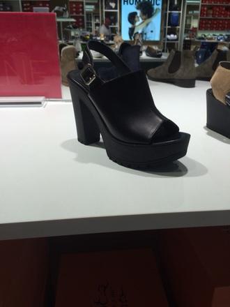 shoes high heels black heels plaform