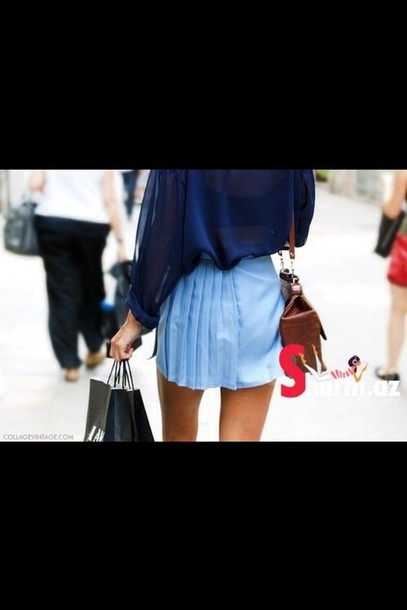 skirt fashion blue skirt