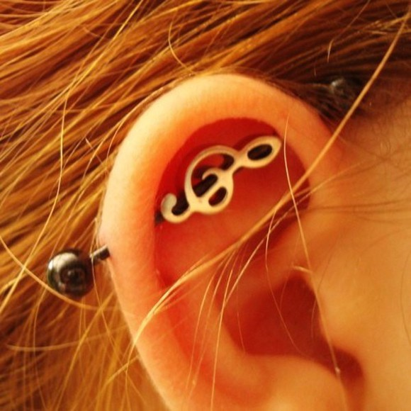 jewels earing music cartilage industrialpiercing