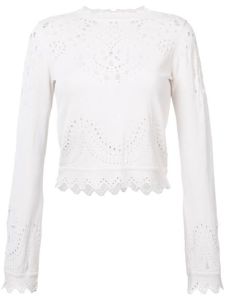 DEREK LAM 10 CROSBY sweater crewneck sweater women white cotton