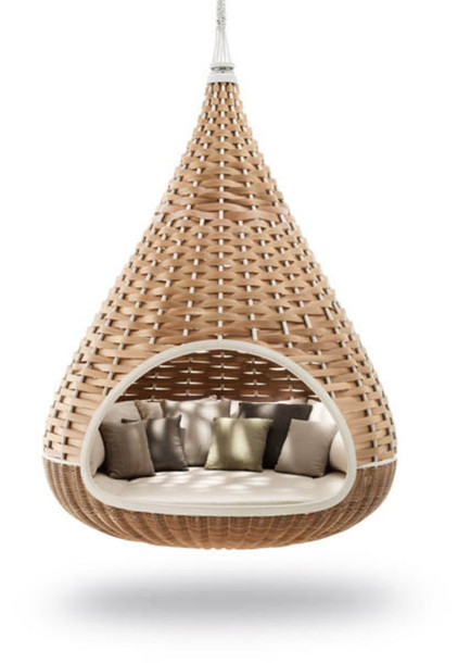 Ordinaire Home Accessory, Seating, Teardrop Shape, Hanging Chair, Wicker   Wheretoget