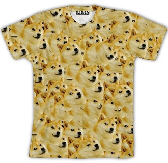 shirt doge dog fashion funny t-shirt style yellow pets animal casual streetwear teenagers