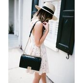 for all things lovely,blogger,shoes,bag,jewels,hat,shirt,shorts,make-up,dress,coat,chanel bag,chanel,black bag,lace dress,short dress,white dress,white lace dress,summer outfits,summer dress