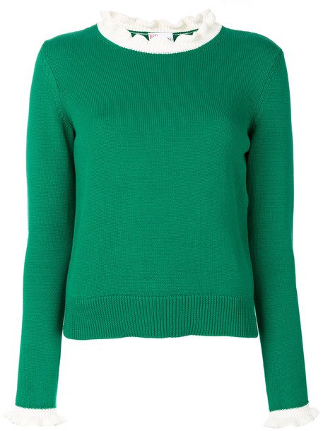 RED VALENTINO jumper women cotton green sweater
