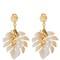 Jungle horn clip-on earrings