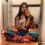 scarf,flare,shirt,pants,multicolor,india love,india westbrooks,harem pants,exotic print