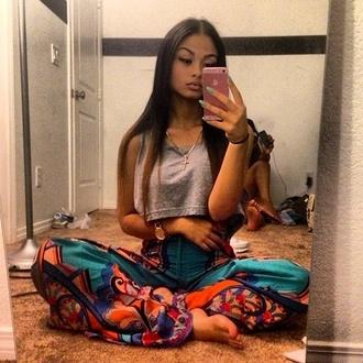 scarf flare shirt pants multicolor india love india westbrooks harem pants exotic print