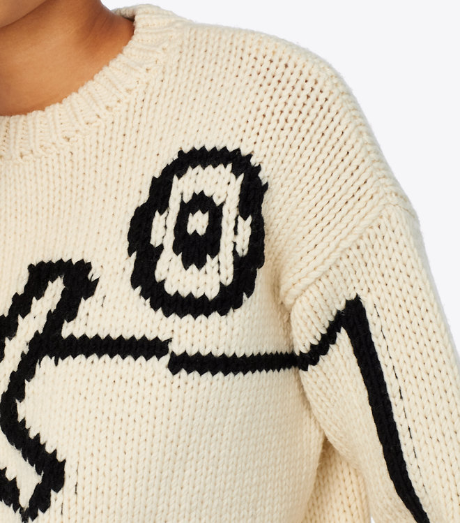 Tory Burch Oversized Intarsia Sweater