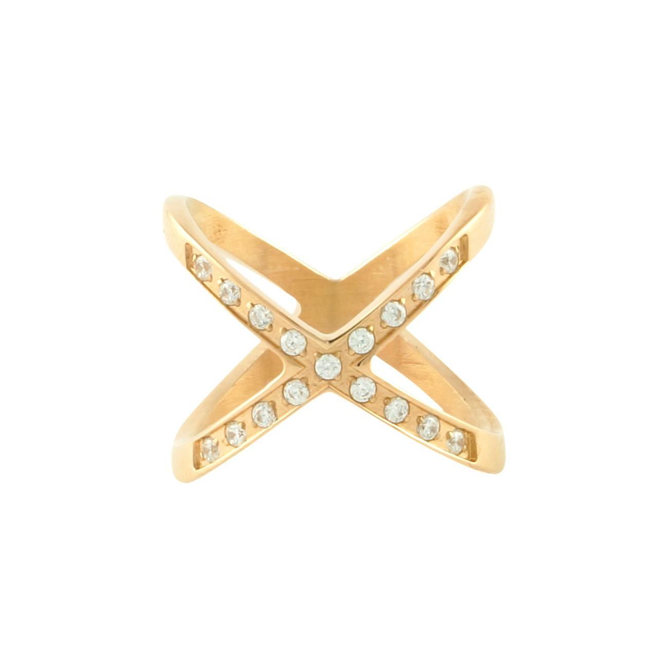 X Midi Ring | Gold plated on titanium| Dainty Ring