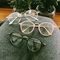 Circle frame vintage soft glasses