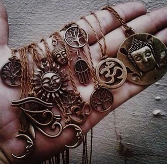 jewels hamsa sun ohm buddha tree