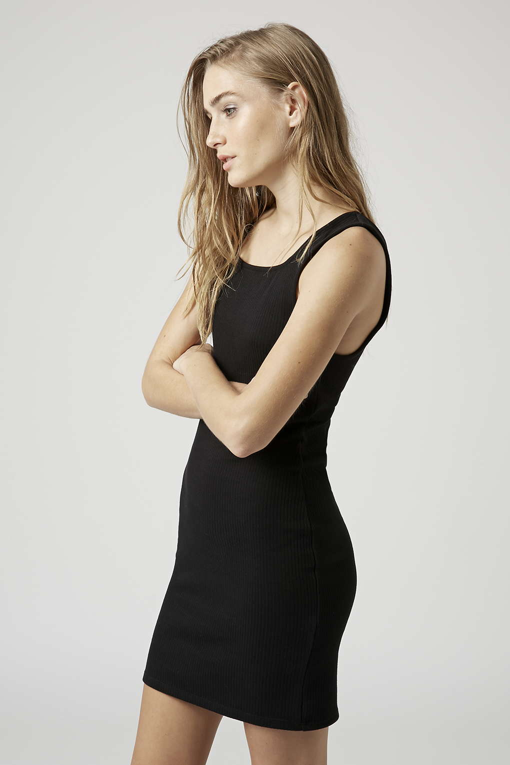 Ribbed Pini Bodycon Tunic - Topshop