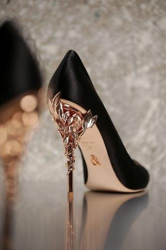 shoes heels black rose gold pumps high heel pumps