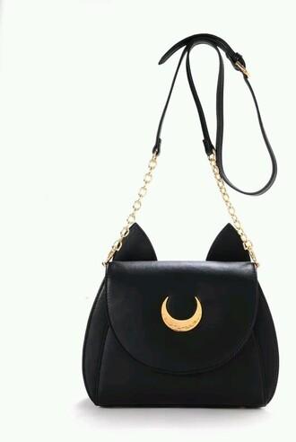 bag sailor moon moon cats
