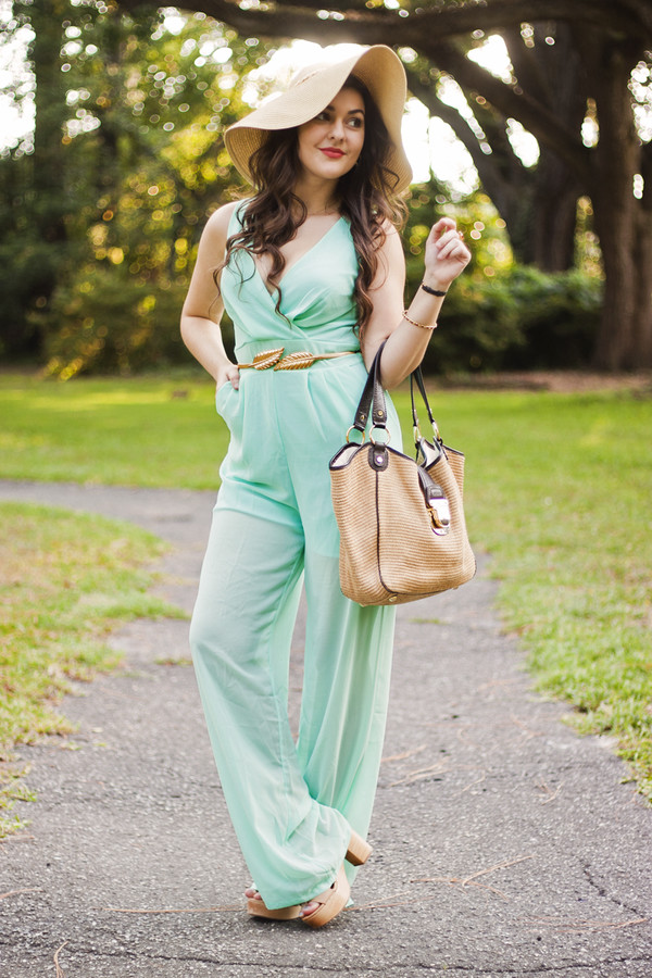 a walk in the park jumpsuit belt shoes bag jewels