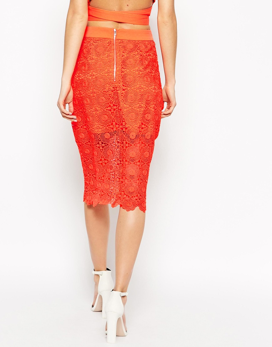 Alice Lace Pencil Skirt at asos.com
