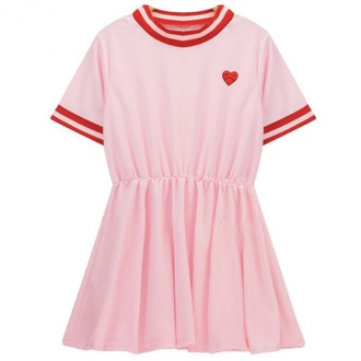 dress pink sporty fashion style trendy teenagers casual summer boogzel