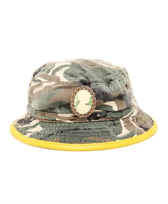 Embellished Camouflage Bucket Hat