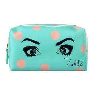 make-up zoella makeup case polka dots eyes makeup bag