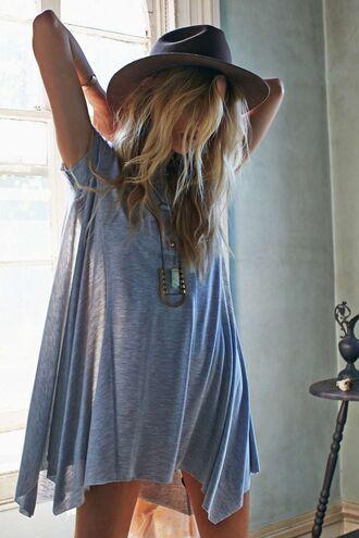 dress blue blue dress t-shirt dress boho jewels oversized t-shirt love it! sexy cool shirts hippie shirt hat grey oversized comfy casual loose tshirt boho shirt boho dress boho chic indie boho indie dress