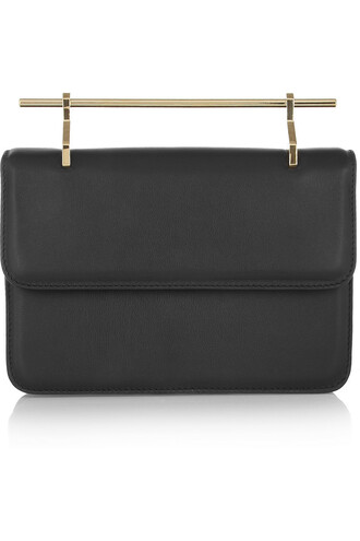 leather clutch fleur clutch leather black bag