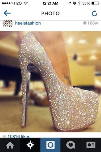 shoes rhinestones heels sparkle high heels wedding shoes