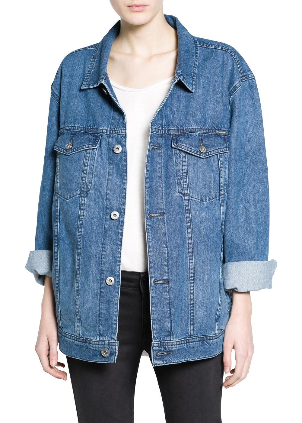 Oversize denim jacket - Dresses - Women - MANGO