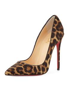 Christian Louboutin So Kate Calf Hair Red Sole Pump, Leopard/Black