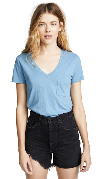 v neck cotton ocean top