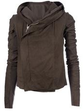 jacket,brown,coat,brown coat,asymmetrical