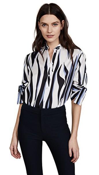 Victoria Victoria Beckham shirt blue top