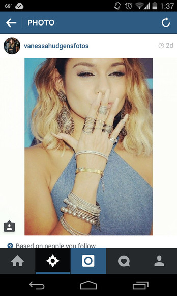 jewels vanessa hudgens ring earrings bracelets bangles silver bracelet stack gold. watch
