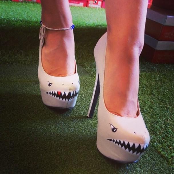 shoes heels shark nude sharp teeth high heel pumps abae66cb0