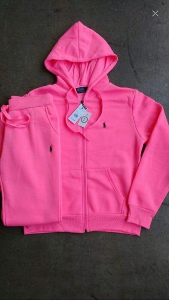 jacket winter outfits polo shirt pink sweatpants outfit set sweater hoodie