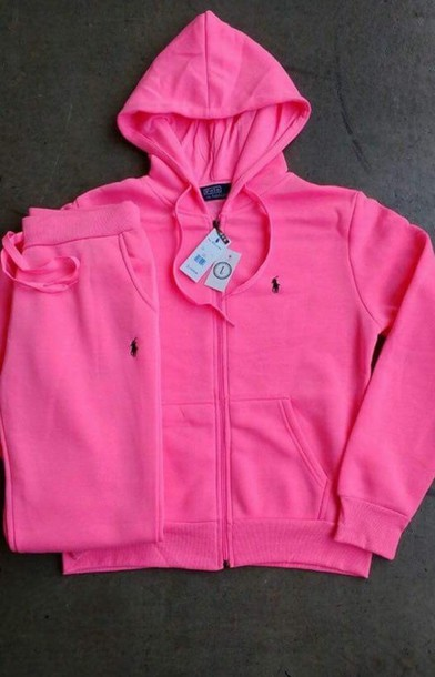Jacket: winter outfits, polo shirt, pink, sweatpants, polo shirt ...