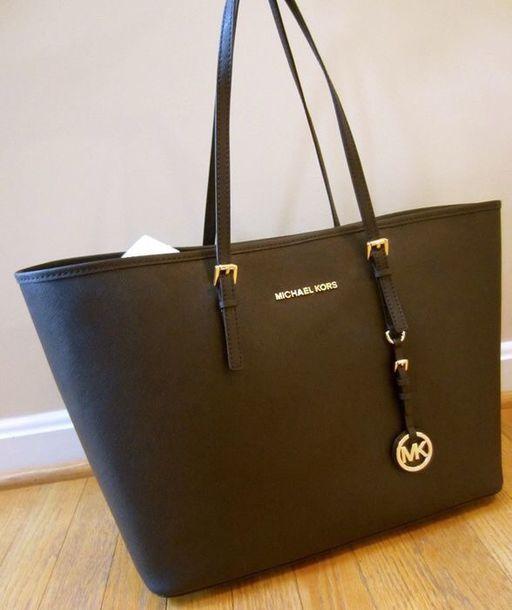 51cf73b96616 bag, michael kors, michael kors bag, black, dark blue, gold - Wheretoget