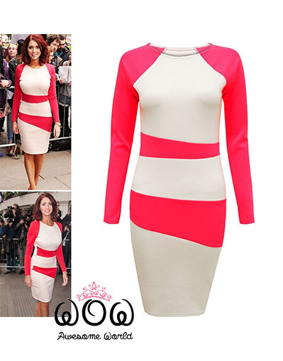 Celebrity pink bodycon dress sale luxury celebrity style fashion