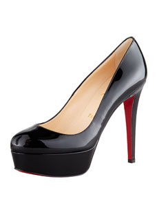 Toe platform red sole pump