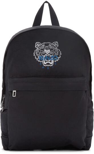tiger backpack black bag