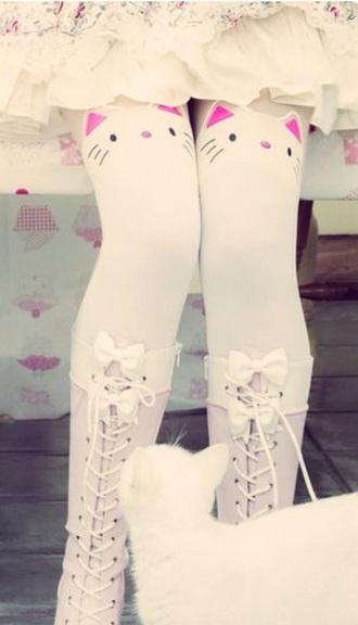 socks cats cute socks kawaii socks adorabl white black pink cat ears kawaii kawaii grunge