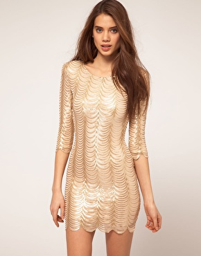 TFNC | TFNC Dress In Scalloped Sequin at ASOS