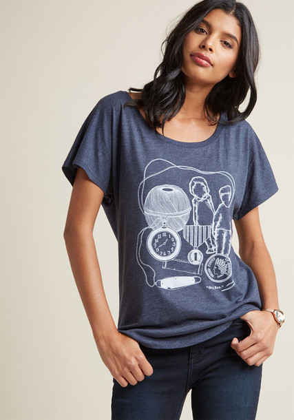 out of print graphic tee top