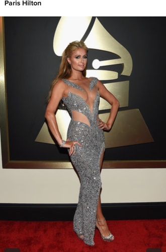 dress paris hilton luxury grammys 2015
