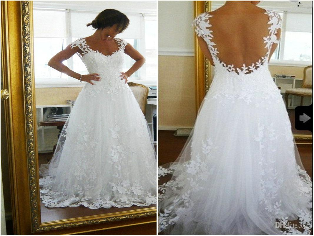 Cheap a Line Wedding Dress - Discount Nicest Wedding Dress Ever a Line V Neck Online with $113.99/Piece | DHgate