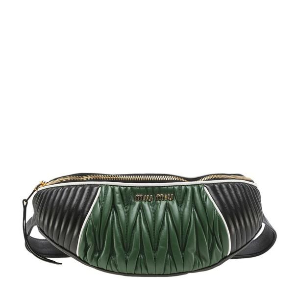 Miu Miu belt bag pleated bag black green